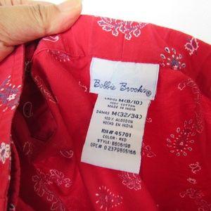 Bobbie Brooks Shorts - Bobbie Brooks Overlap Skort Paisley Print M (8/10)